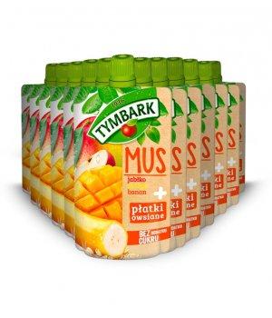12X Mus jabłko-mango-banan + płatki owsiane 100g Tymbark