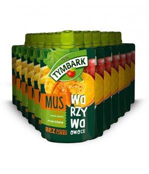 12X Mus mango-banan-ananas-dynia 100g Tymbark