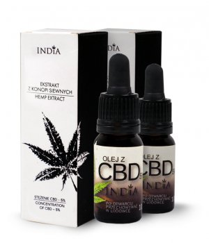 Olej z CBD 5% 10ml INDIA