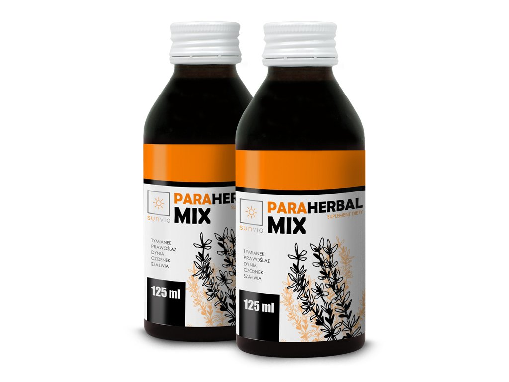 Para Herbal Mix 125ml SUNVIO - Zestaw 2 szt.