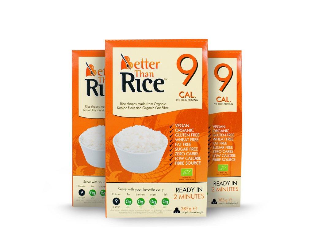 3X BIO Makaron konjac w kształcie ryżu 385g