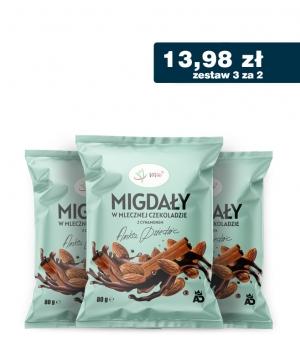 3 za 2 Migdały w mlecznej czekoladzie z cynamonem Anka Dziedzic 80g VIVIO