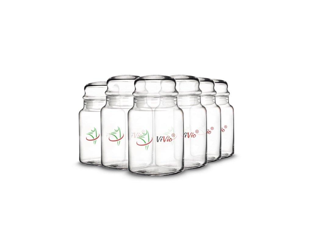 6x Słoik szklany VIVIO 890ml, pojemnik szklany z pokrywką