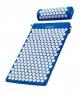 Mata do akupresury z kolcami + poduszka 72x42 NIEBIESKA, właściwości, działanie