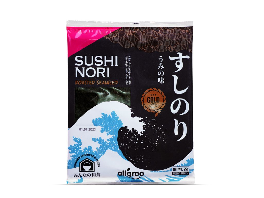 Algi morskie do sushi GOLD Premium 25g Allgroo