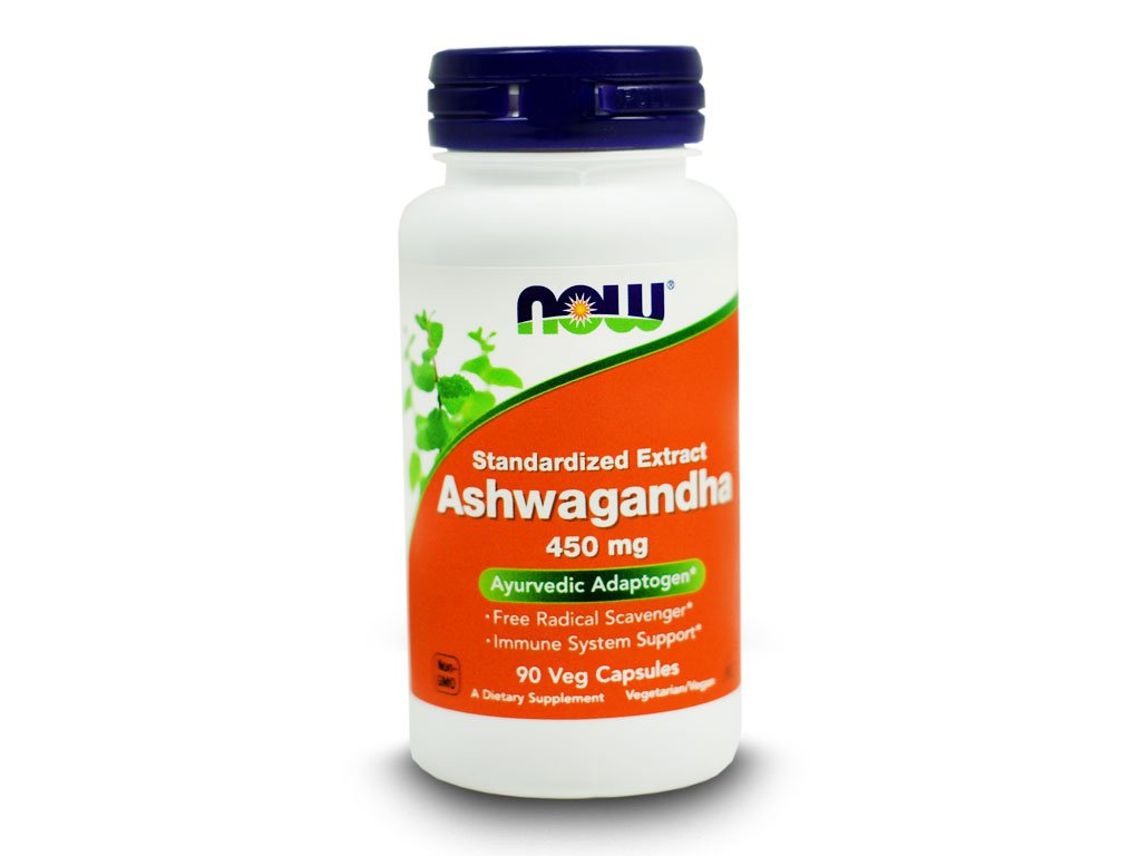 NOW - Ashwagandha Extrakt 450mg 90 kapsułek