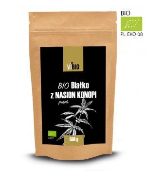 Ekologiczne białko z nasion konopi, BIO białko z konopii 500g