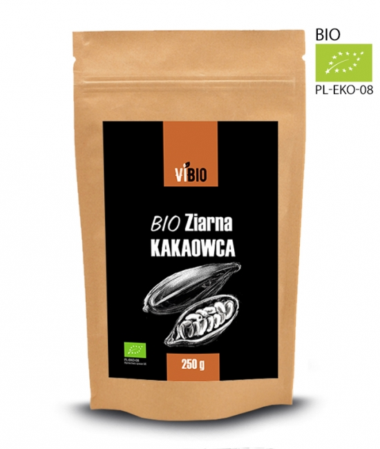 Surowe ziarno kakao - ziarno kakaowca 250g
