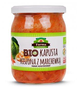 BIO Kapusta kiszona z marchewką 420g Farma Świętokrzyska