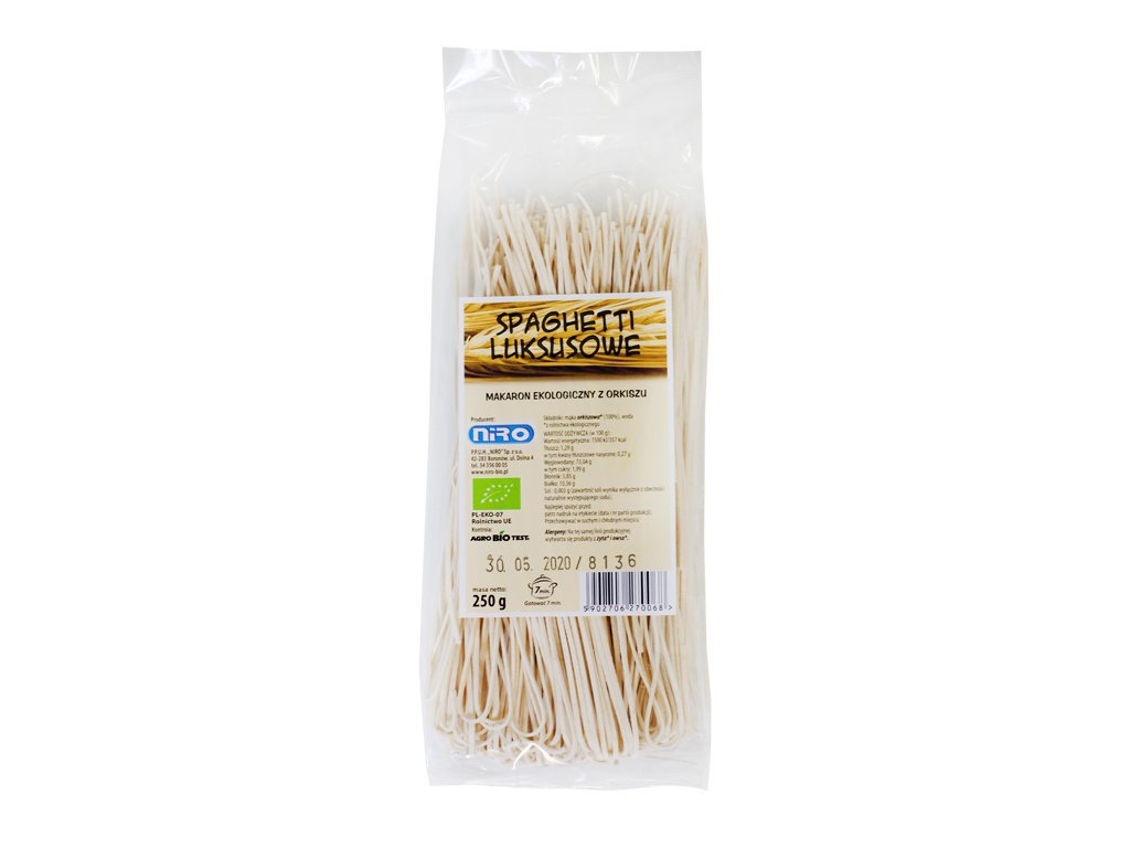 Ekologiczny makaron orkiszowy spaghetti luksusowe 250g