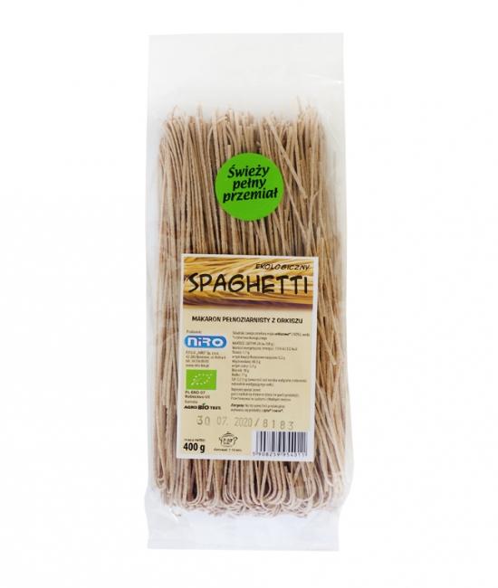 Ekologiczny makaron pełnoziarnisty spaghetti 250g