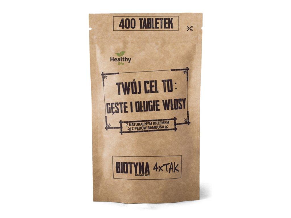 Biotyna 4X Tak - gęste i długie włosy 400 tabletek