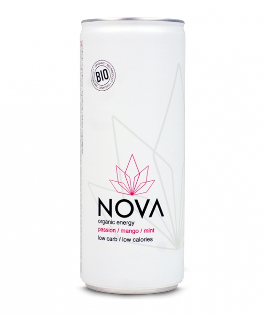 BIO Energetyczny napój marakuja 250ml NOVA