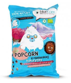 BIO popcorn z niebieskiej kukurydzy z olejem i solą himalajską 50g BLUECORN