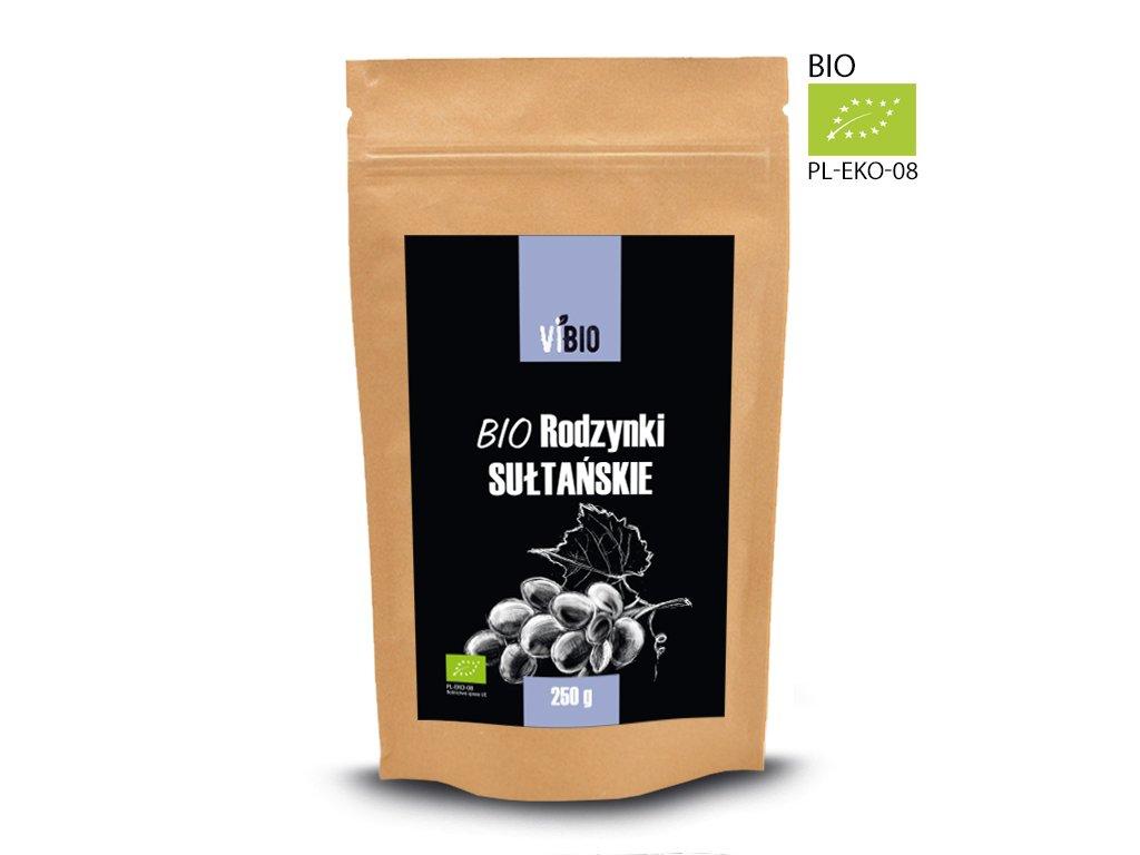 Rodzynki z upraw ekologicznych, BIO, Organiczne, ekologiczne 250g