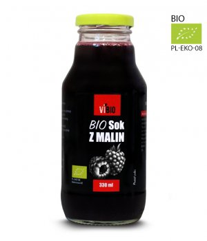 BIO Sok z malin 330ml