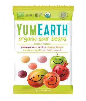 BIO Żelki kwaśne sour beans 50g Yumearth