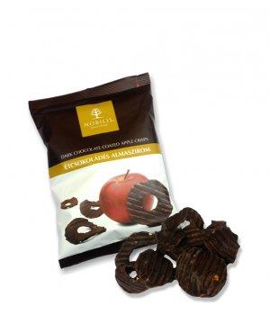Chipsy jabłkowe w gorzkiej czekoladzie 50g NOBILIS