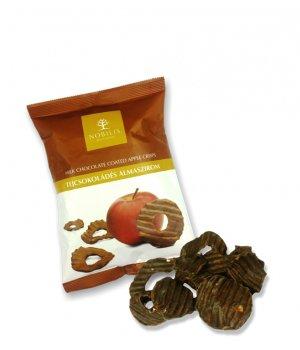 Chipsy jabłkowe w mlecznej czekoladzie 50g NOBILIS