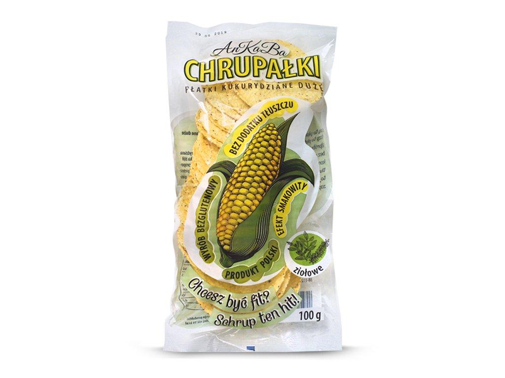 Chrupałki płatki kukurydziane ziołowe 100g