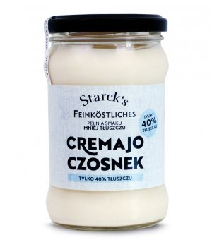 Majonez wegański z czosnkiem Cremayo 40% 270g