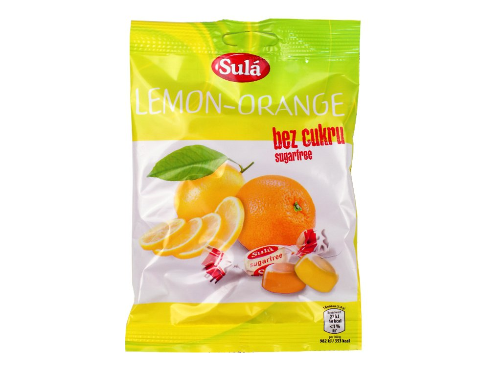 Cukierki cytrynowo-pomarańczowe Sula 50g