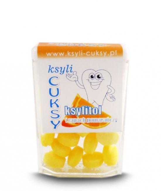 Cukierki pomarańczowe z ksylitolem cena, opinie