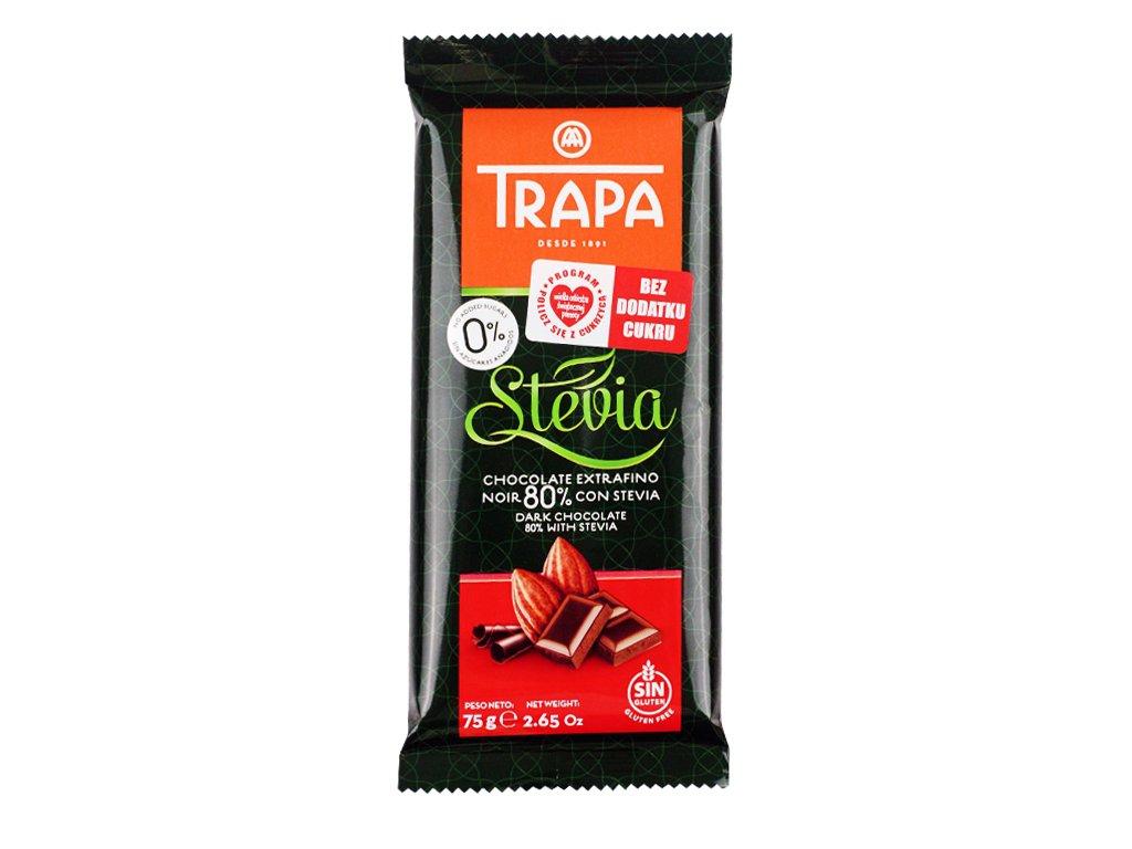 Czekolada gorzka 80% kakao Trapa 75g
