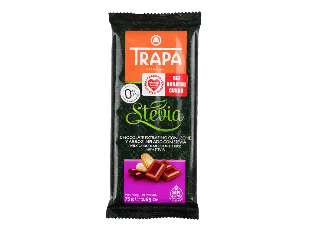 Czekolada mleczna crunchy Trapa 75g