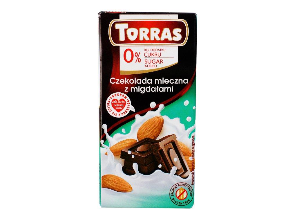 Czekolada mleczna z migdałami 75g Torras