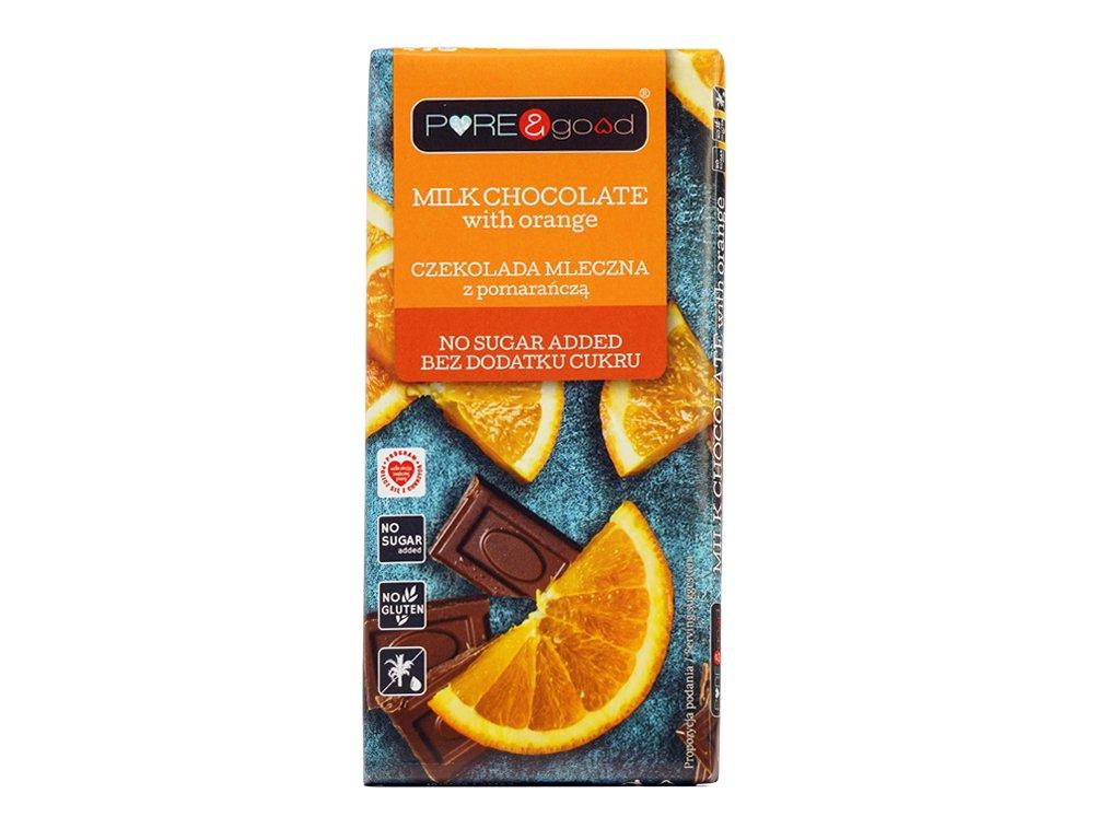 Czekolada ml. z pomarań. BDC 75g PURE&good