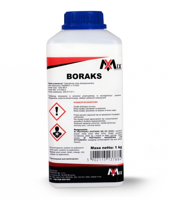 Boraks - Czteroboran sodu 1000g