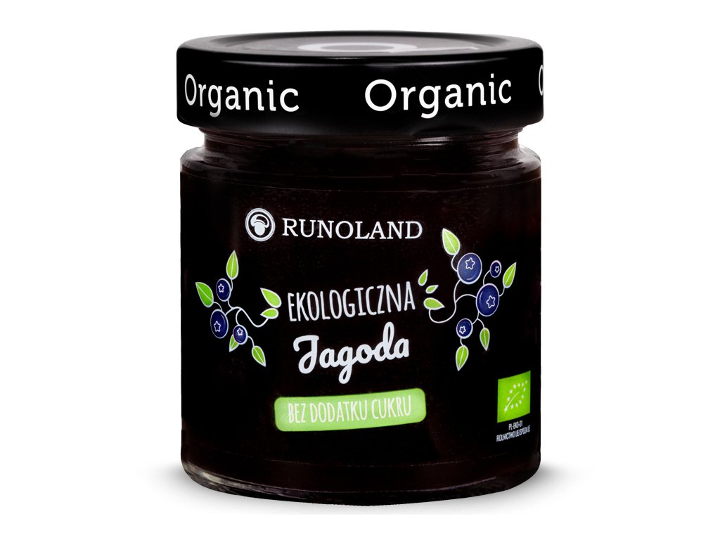 Ekologiczny dżem z jagód 200g - RUNOLAND