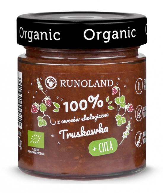 Ekologiczny dżem truskawkowy z CHIA 200g - RUNOLAND