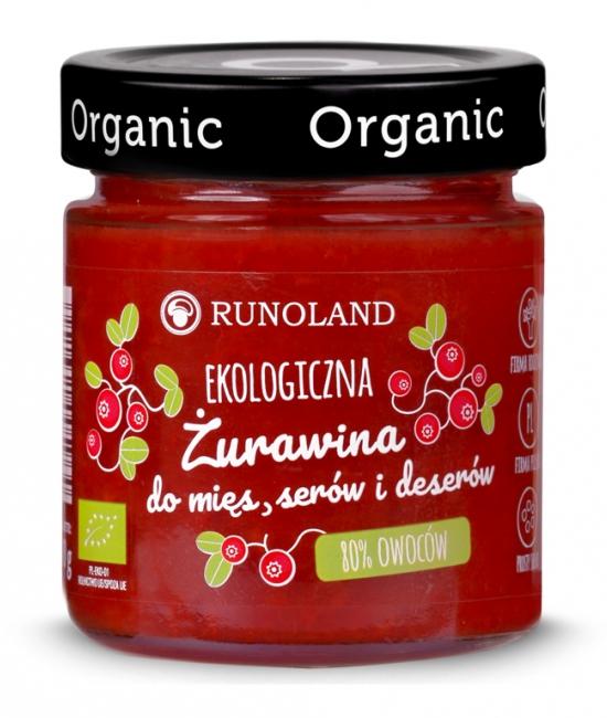 Ekologiczna żurawina do mięs, serów i deserów 200g - RUNOLAND