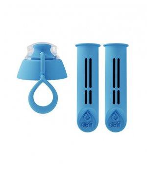 Filtr do butelki niebieski 2 szt + nakrętka DAFI
