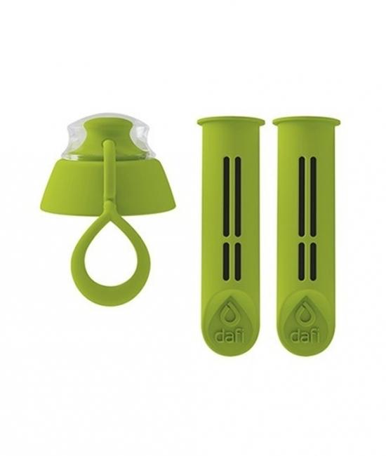 Filtr do butelki zielony 2 szt + nakrętka DAFI