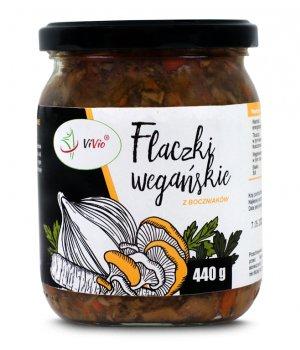 Flaczki wegańskie 440g VIVIO, flaczki wegańskie z boczniaków, z grzybami