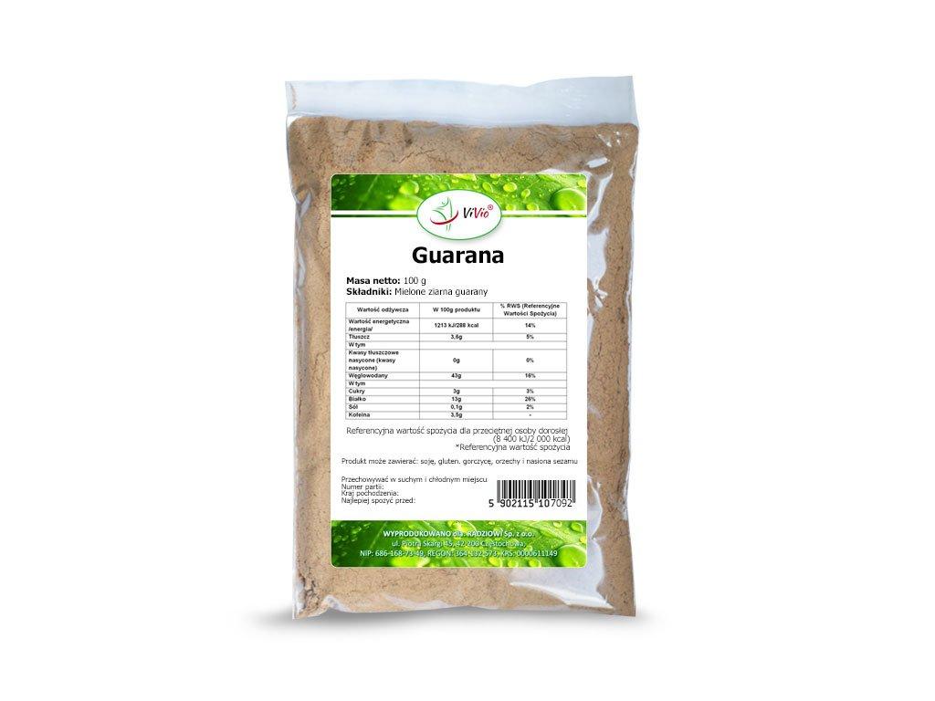 Guarana w proszku, guarana mielona właściwości