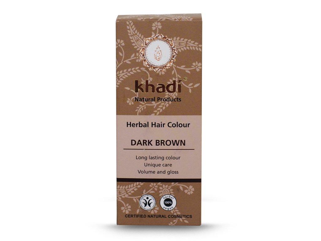 Henna Khadi Cassia - ciemny brąz 100g