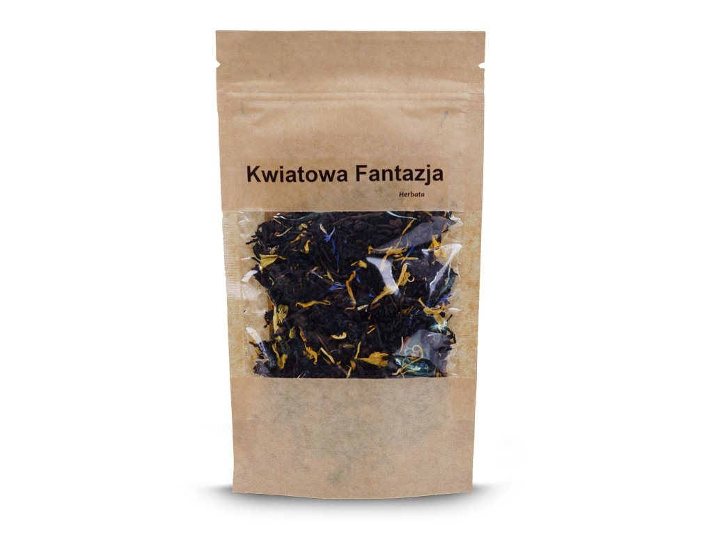 Herbata kwiatowa fantazja 50g herbata puerh czerwona Vivio