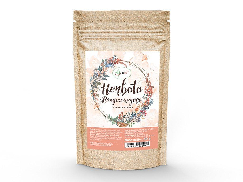 Herbata rozgrzewająca 50g VIVIO, skład, właściwości, prezent