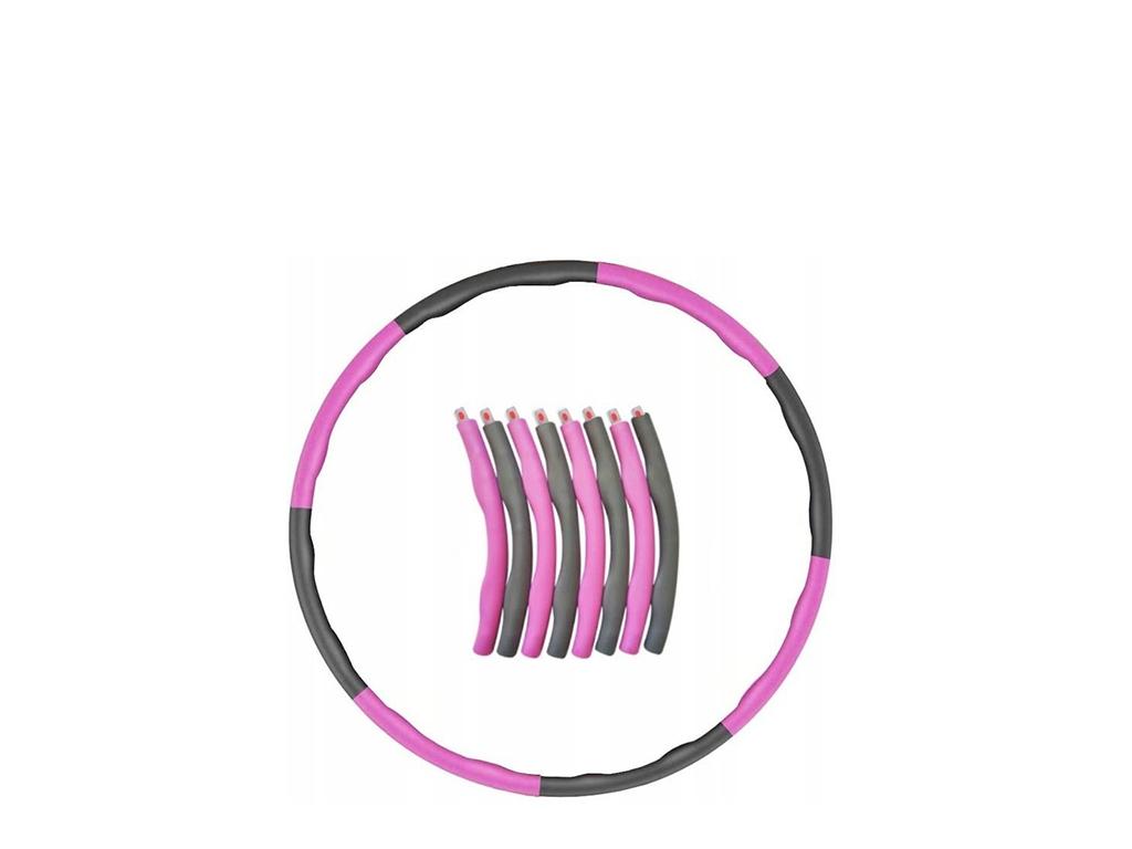 Hula hop szaro-różowy 0,95 kg 4Fizjo
