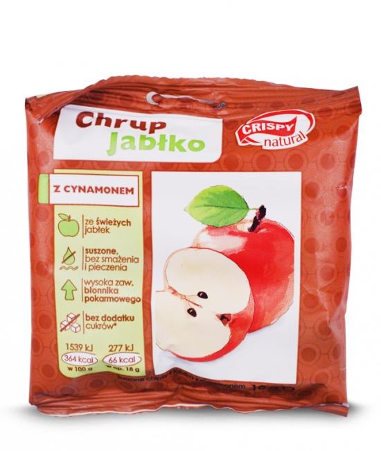 Suszone chipsy z jabłka z cynamonem 18g CRISPY