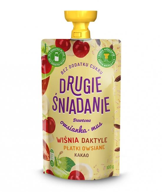 Owsianka z Wiśnią/Kakao i daktylem 100g Dawtona
