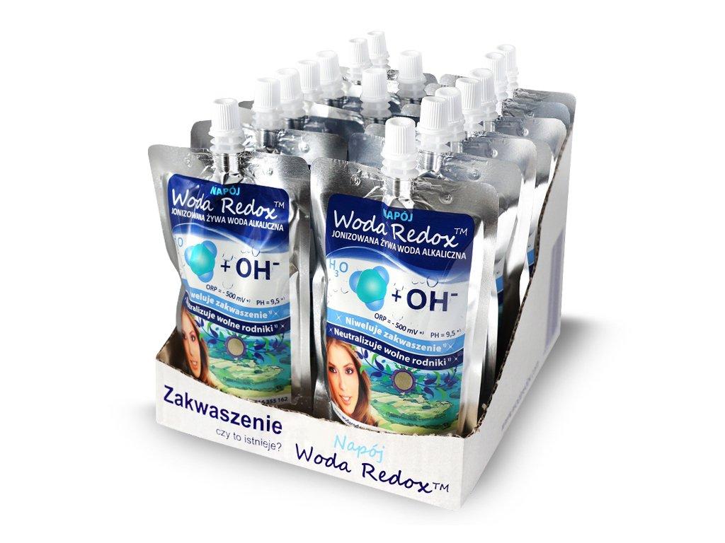 Woda jonizowana alkaiczna REDOX 240ml (16 sztuk)