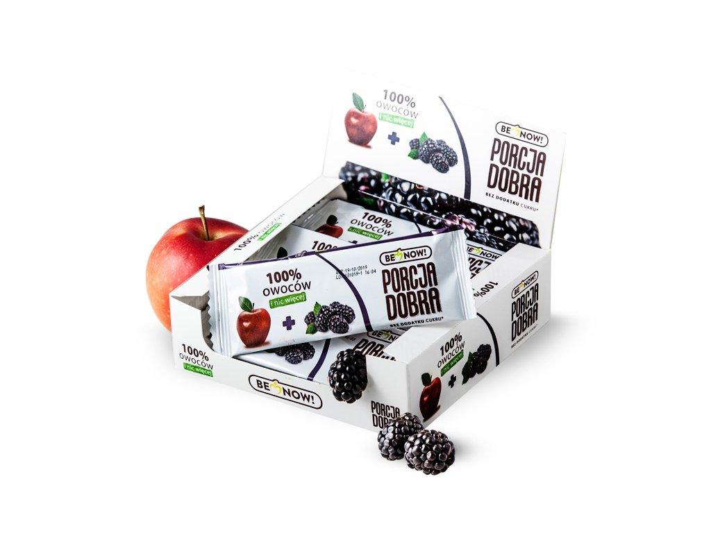 Przekąska jabłkowo-jeżynowa 24 x 16 g - Benow