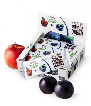Przekąska jabłkowo-śliwkowa 24 x 16 g - Benow