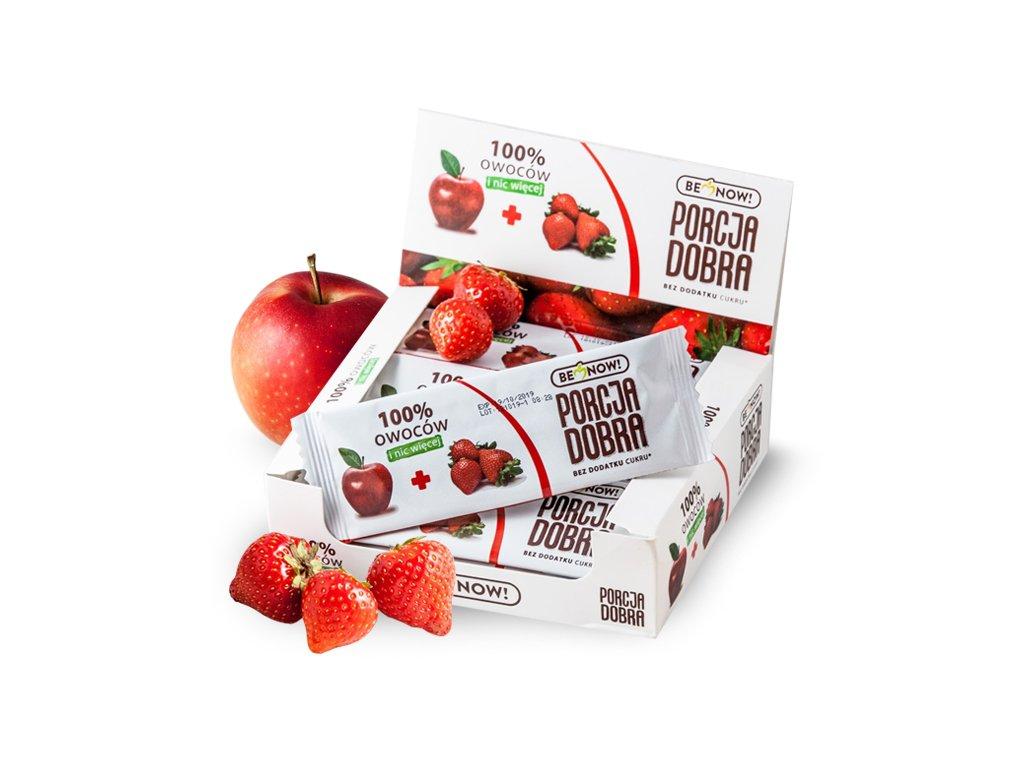 Przekąska jabłkowo-truskawkowa 24 x 16 g - Benow