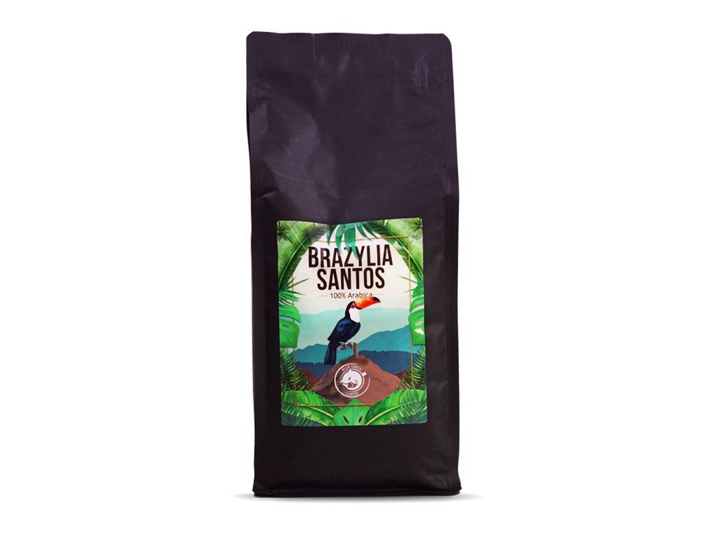 Kawa Brazylia 1kg palona ziarno Blue Orca